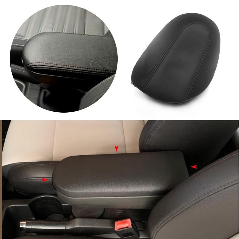 Car Center Armrest Control Box Cover Microfiber Leather Sticker Trim For VW Golf 4 MK4 Jetta Bora Beetle Passat B5 1999 - 2005