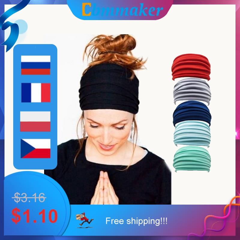 Headband sport  bandeau Yoga Headband Nonslip Elastic Stretch Hairband Turban Running Headwrap Wide Sports Accessories elastic lacework wide sport headband