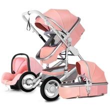 Poussette haute paysage 3 en 1   Poussette de luxe, poussette de voyage, poussette, panier de voiture, siège de voiture, pour bébé