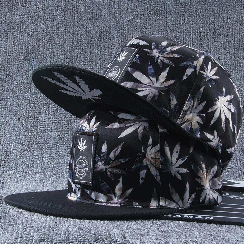 Hot Selling Handsome Leaf Baseball Hat Men Embroidered Couples Nursing Hip Hop Baseballcap Boys Fashion Euro USA RUS