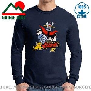 2021 New 100% Cotton O Neck Japan Anime Mazinger Z Long Sleeve Tee Shirt Men Cartoon T-Shirt UFO Robot Grendizer Goldorak Tshirt