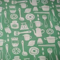 Garrafa verde impresso tecido de linho cortina toalha de mesa tecido artesanal diy artesanato algodão e linho