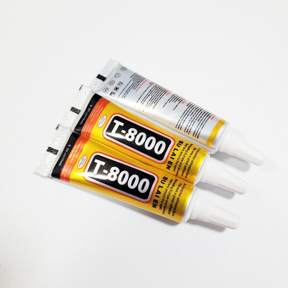 Pegamento negro T8000 para teléfono móvil, adhesivo con pantalla táctil, superpegamento para reparación de vidrio, bricolaje, 15ml, 1 Uds.