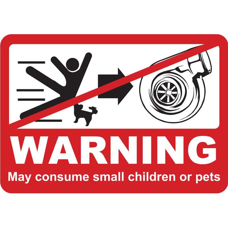 Мультяшный турбо предупреждающий автомобильный стикер мотоциклетные автомобильные аксессуары персонализированное украшение из ПВХ Высо...