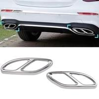 car styling amg rear exhaust pipe cover trim frame for mercedes benz b c e class coupe w246 w205 w212 gle w166 c292 gls cla