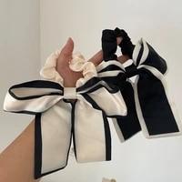 bow knot hair rope ribbon elegant head tie band ladies scarf summer headdress long streamer fashion accessories