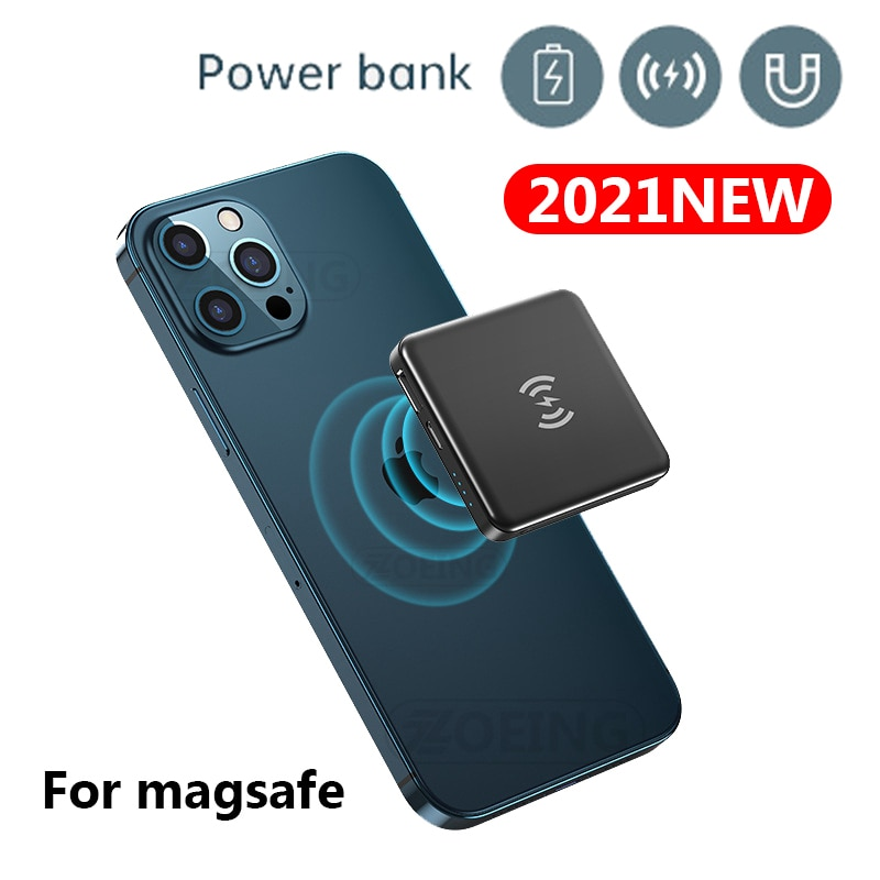 Portable Magnetic Wireless Fast Charging Power Bank For Magsafe Magnet powerbank External Battery Charger For iphone 12 pro Max