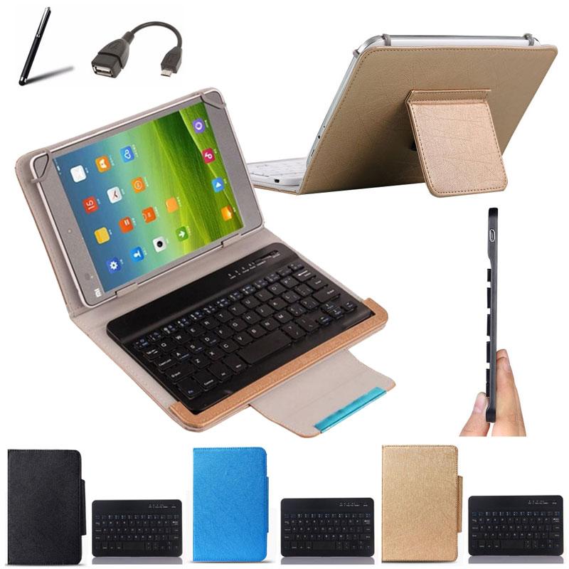Carcasa de teclado Bluetooth inalámbrico para fusion PC-1031 tableta de 10,1 pulgadas diseño de idioma personalizado + 2 regalos