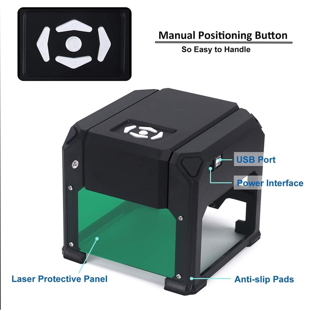 Incisore laser CNC 3000mw fai da te, stampante laser logo, mini - Attrezzature per la lavorazione del legno - Fotografia 3