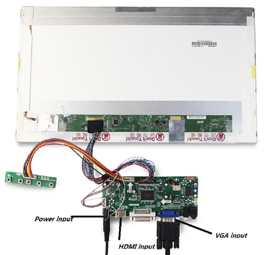 """Kit for B173HW02 V0/V1 VGA DVI Monitor M.N68676 17.3"""" LVDS 40pin Panel Screen Controller board HDMI-compatible LCD 1920X1080 LED"""