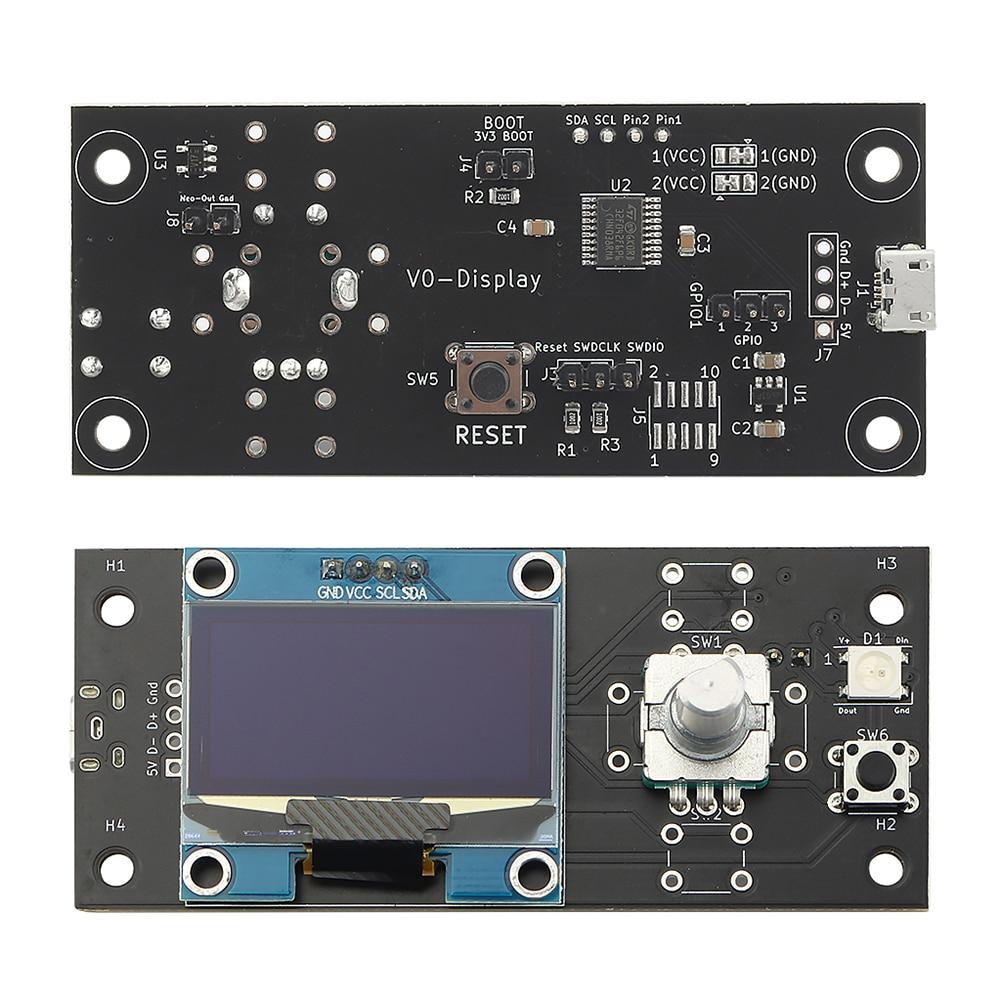 ملحقات طابعة ثلاثية الأبعاد STM32F042F6P6 MCU مع داخلي شاشة عرض OLED 1.3 بوصة بمنافذ USB مزدوجة لطابعات Voron V0 Raspberry Pi 3B