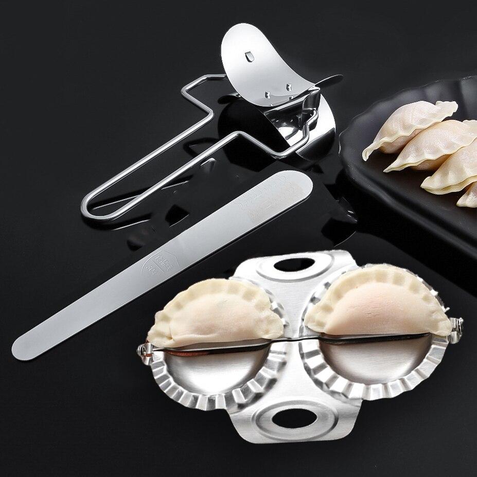 Stainless Steel Dumpling Maker Manual Ravioli Gyoza Mold Durable Press Pierogi Dough Cutter Knife Kitchen Pastry Pasta Tool