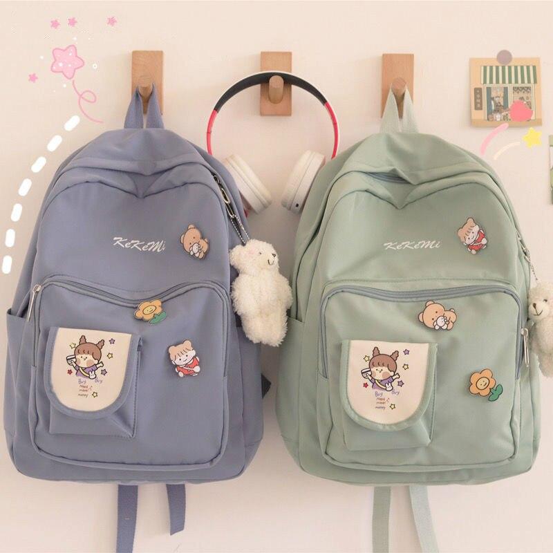 Женские рюкзаки с мультипликационным принтом, милые вместительные студенческие сумки, модные женские рюкзаки в Корейском стиле, дорожные с...