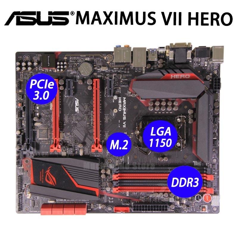 LGA 1150 Asus MAXIMUS VII héroe Placa base Intel Z97 i7 i5...