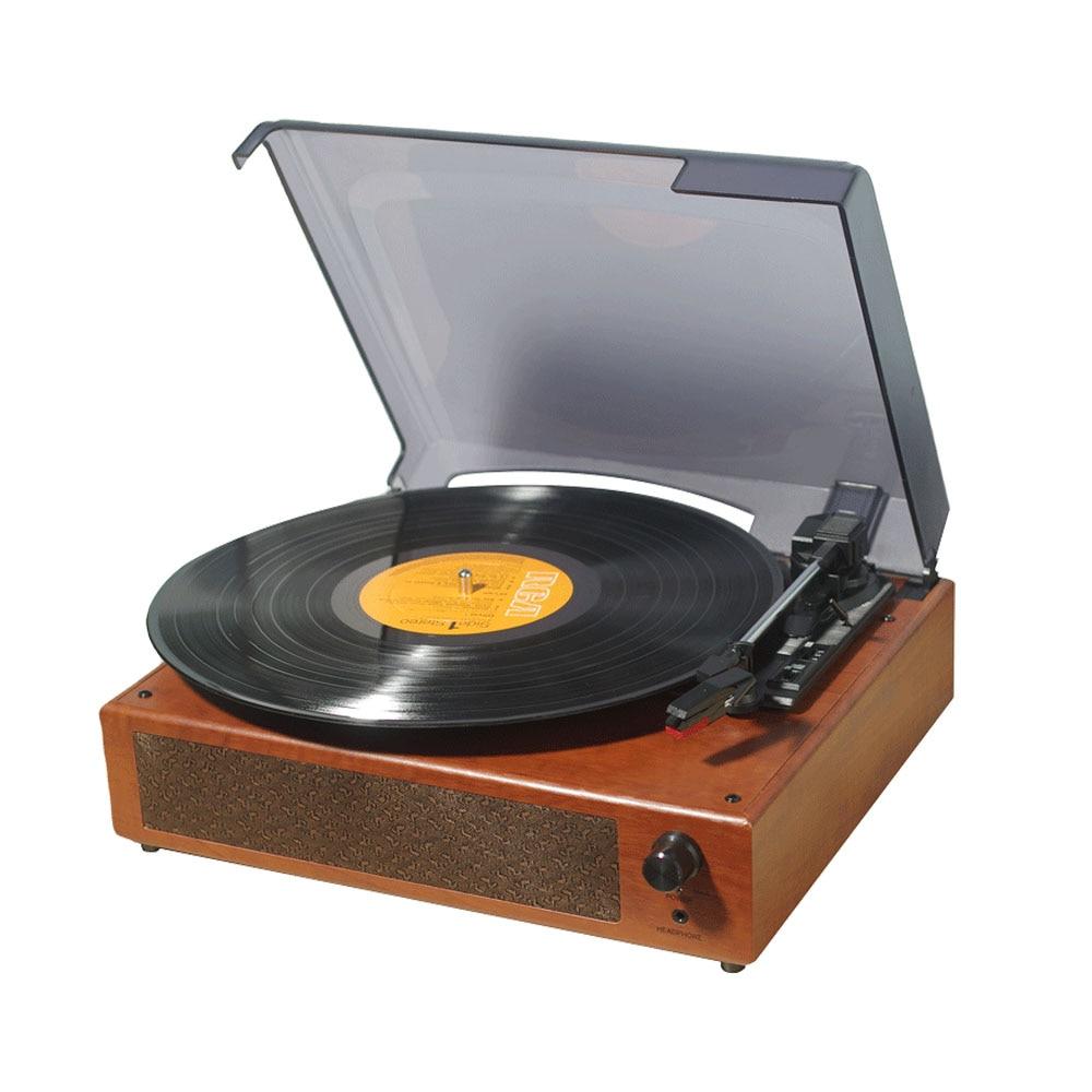 Gramófono portátil reproductor de discos de vinilo Clásico tocadiscos fonógrafo con altavoces estéreo incorporados Venta caliente
