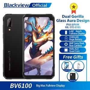 Blackview BV6100 IP68 водонепроницаемый мобильный телефон 3 ГБ + 16 ГБ Android 9,0 открытый мобильный телефон 6,88