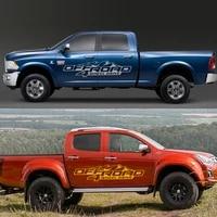 2pcs for ford ranger raptor pickup isuzu dma nissan navara toyota hilux tacoma diy car side sticker off road 4x4 car accessories