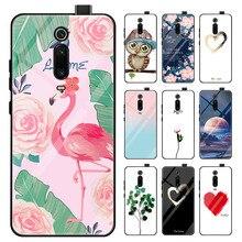 Tempered Glass Pattern Case For Xiaomi Redmi K20 Note 6 5 Pro Xiomi Mi 9 9T Pro 8 A2 Lite 6X 5X A1 Pocophone F1 Cover Case Coque