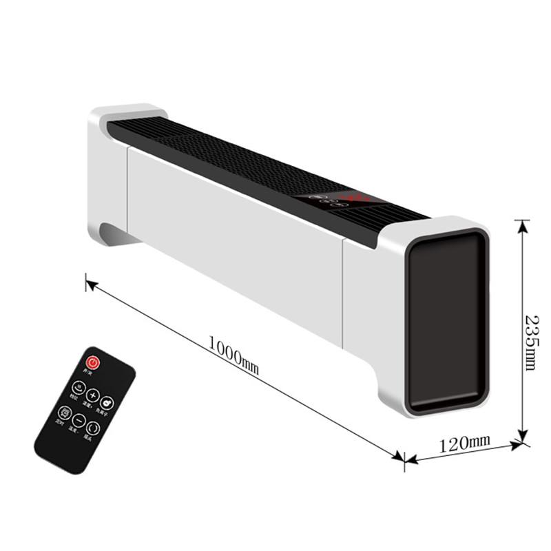 سخان كهربائي 220 فولت التحكم عن بعد التدفئة الكهربائية توفير الطاقة مسخن الهواء مروحة التدفئة الأرضية المتنقلة 18-22 ㎡ 2200 واط