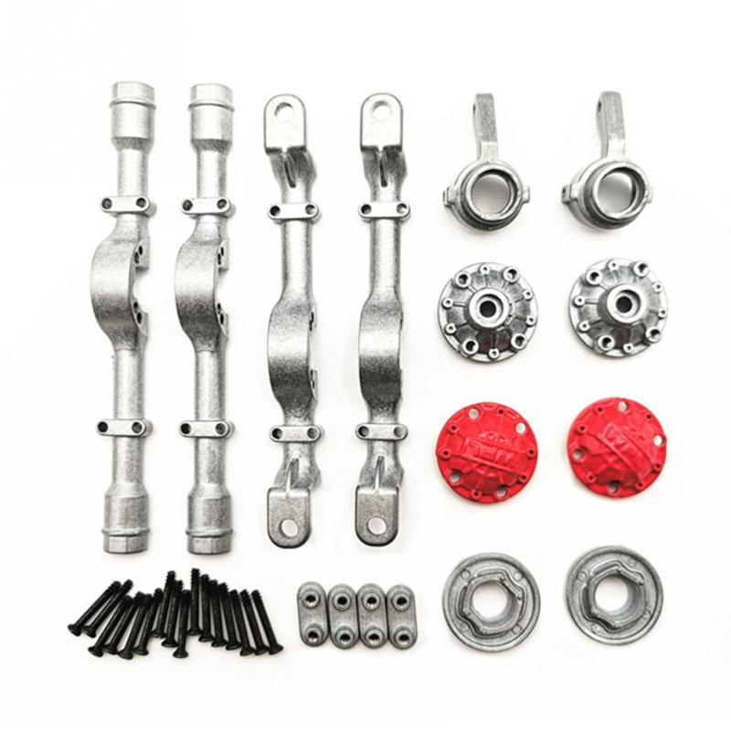 for WPL 4X4 Truck Front and Rear Metal Shaft Shell DIY Modified Upgrade Accessories Climbing Off-Road Vehicle Toy Model,Silver enlarge