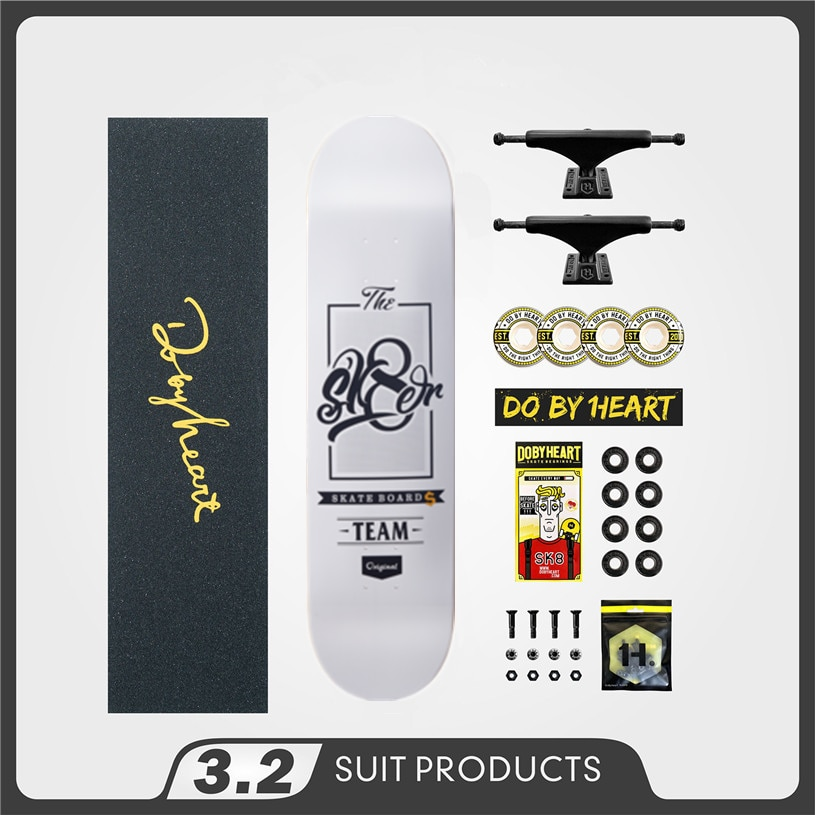 SK8ER Completed Skate Boards 8.25 8.125 8.0 inch Skateboard Wheels & Trucks & Bearings Double Rocker Skateboard Accessories