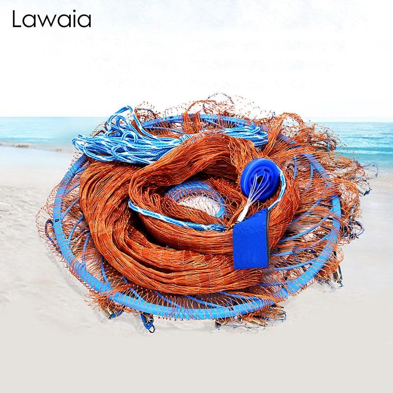Lawaia литейная сеть, американский стиль, линия шин, ручная метательная сетка, легкая Оцинкованная железная подвеска, грузила, поворотный экра...