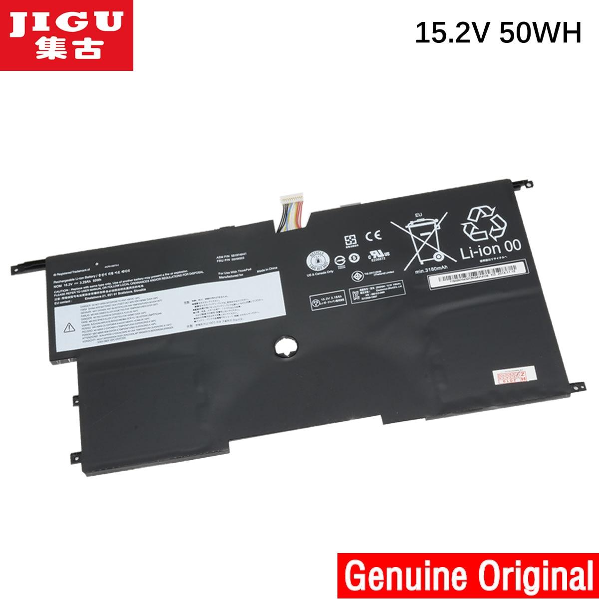 Batería para ordenador portátil JIGU 15,2 V 50WH ORIGNAL 00HW002 00HW003 45N1070 45N1071 LENOVO para ThinkPad X1 Carbono (3444)