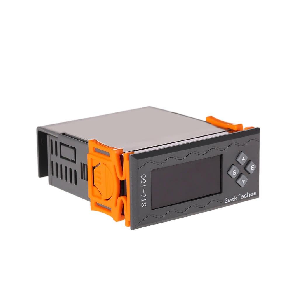 Controlador de temperatura Digital multifunción de alta precisión DC 12V LED Thermostast 2 relés con Sensor NTC ℃ & Alarm alarma de temperatura