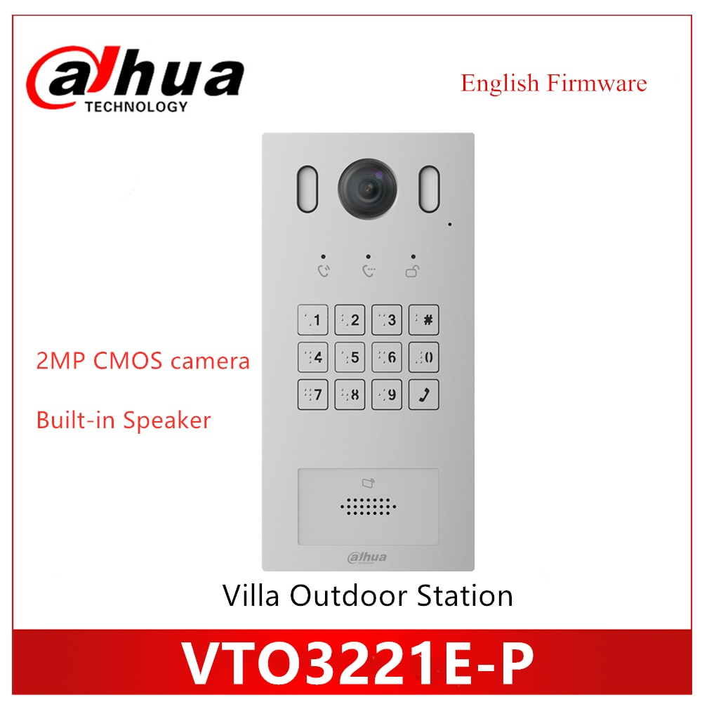 Dahua Keyboard Villa Outdoor Station 2MP CMOS camera PoE(802.3af) IP Metal Villa doorbell SIP firmware
