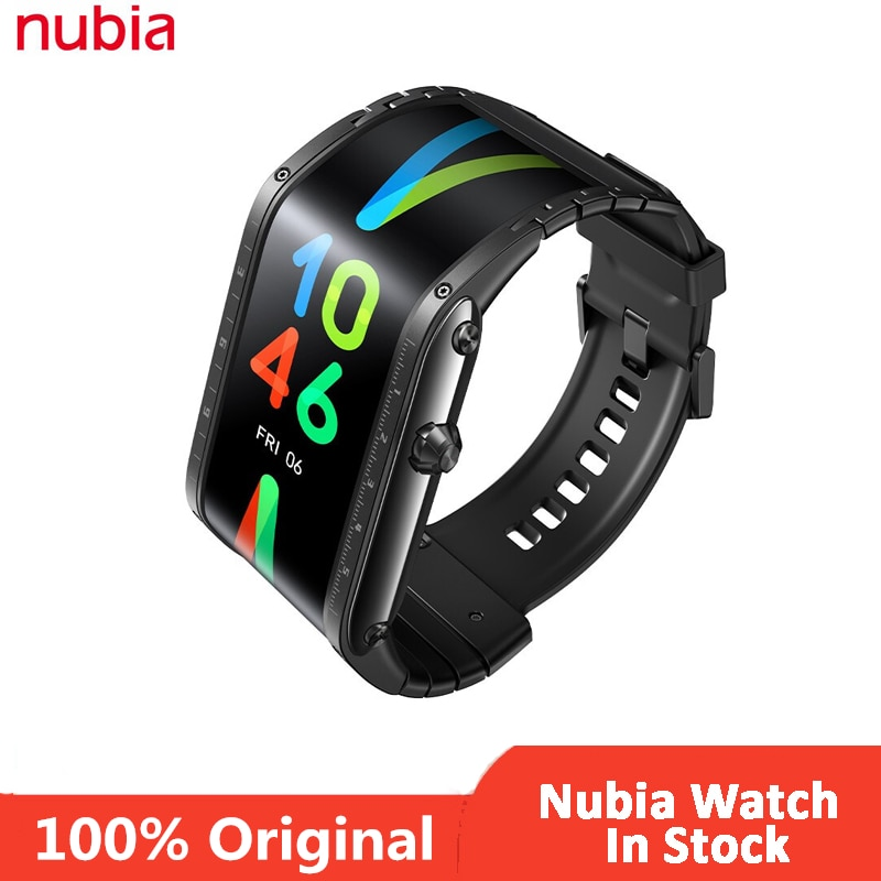 Original Nubia Smart Watch Phone 4.01 inch foldable flexible Bluetooth calling Mid-air gestures Nubia Watch