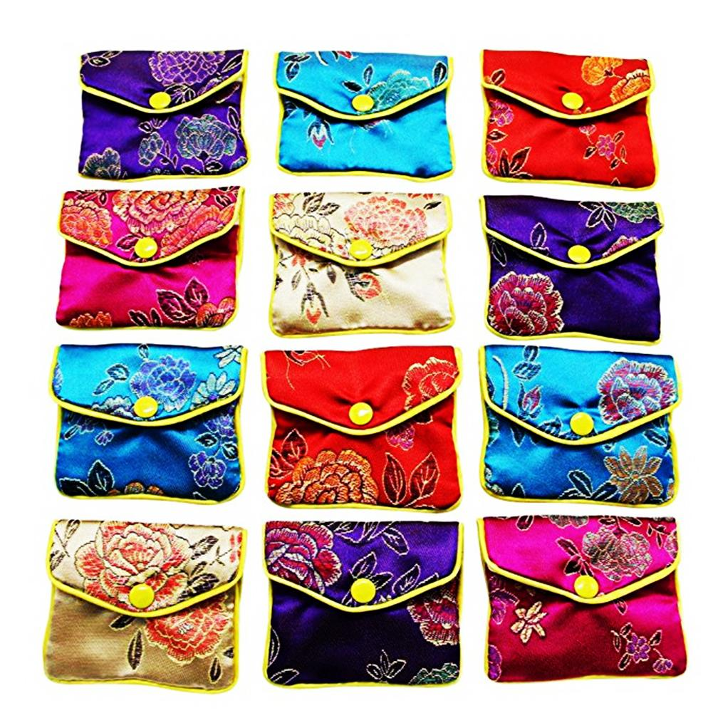 12 Piece Jewelry Rolls Storage Bag Silk Gift Bags Small Jewelry Gift Bag #CW