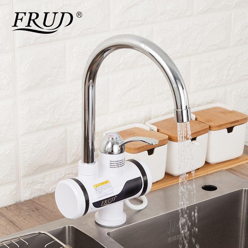 Frud cozinha elétrica aquecedor de água torneira de água quente instantânea led digital aquecimento tankless instantânea aquecedor de água