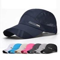 summer outdoor sports caps women quick dry breathable sun visor baseball cap men hiking fishing running cap sun hat adjustable