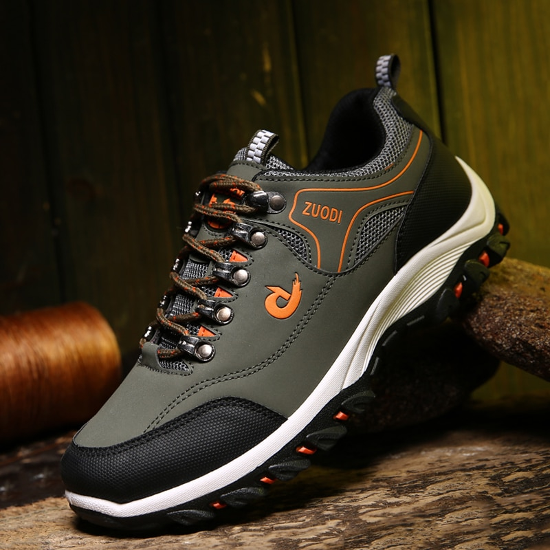 حذاء رياضي للمشي لمسافات طويلة للرجال ، حذاء مشي خفيف الوزن وغير قابل للانزلاق ، مسامي ، مقاس كبير 37-48