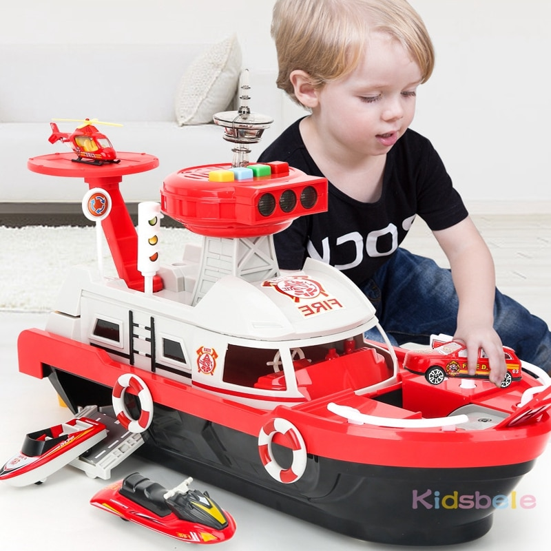 Kinderen Speelgoed Simulatie Track Inertie Boot Diecasts & Toy Vehicles Muziek Verhaal Licht Speelgoed Schip Model Speelgoed Auto Parking Jongens speelgoed