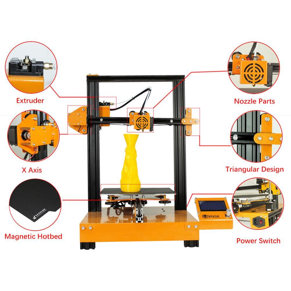 SIMAX3D Mi-M200 промышленный 3D принтер DIY настольный Высокоточный fdm большой размер 3d принтер образование новейший DIY Набор hotend