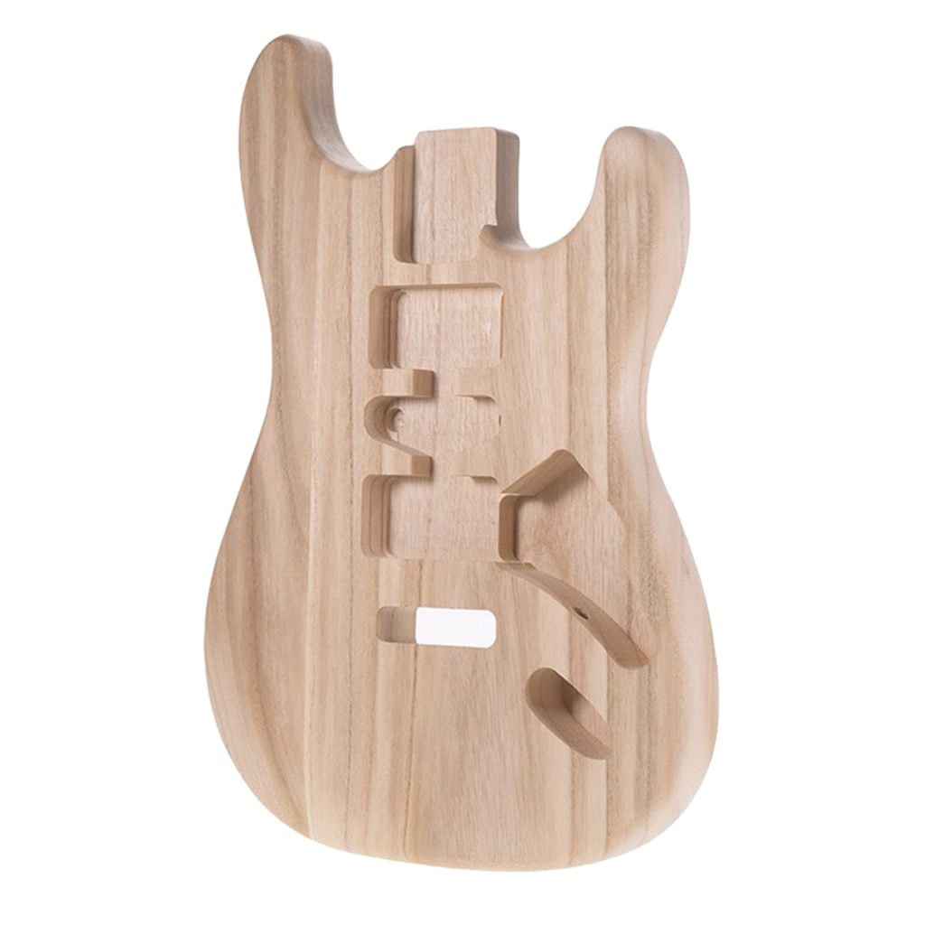 Handcrafted Sanding Electric Guitar Replacement Unfinished Sycamore Polished Body Guitar DIY Guitar Parts Accessory enlarge