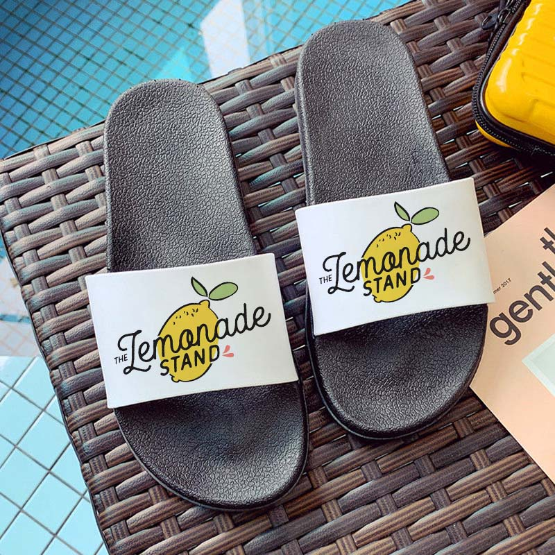 hipster pattern 2021 summer new fashion fruit print slippers open toe flip flops for women Kawaii pattern Hipster sandals