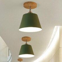 Led luz de teto madeira moderna lâmpada do teto do vintage plafondlamp sala estar colorido e27 plafonnier lamparas techo deckenleuchten