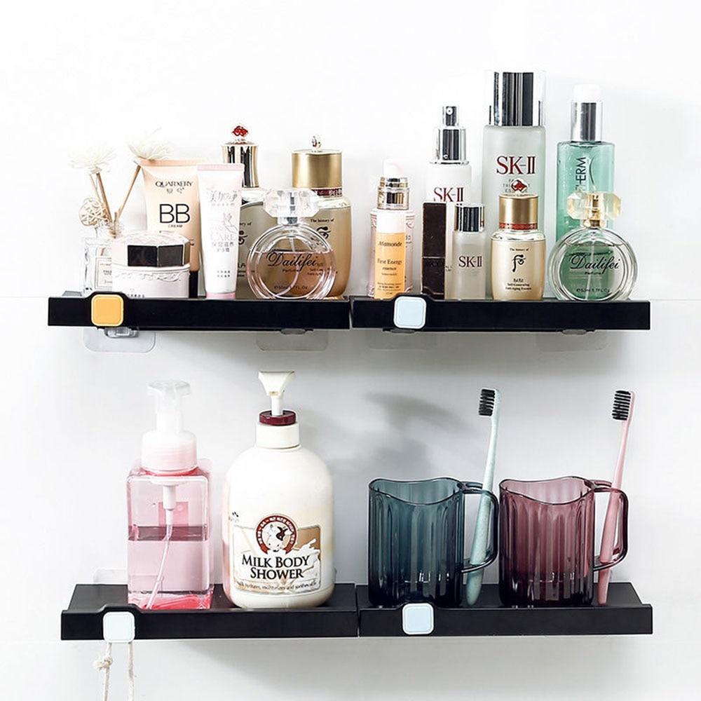 رف جدار الحمام رف بسيط المطبخ تخزين الرف الحرة لكمة الرف المطبخ منظم مستحضرات التجميل رفوف منظم مكتب