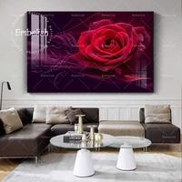 Peinture sur toile avec fleurs rouges  1 piece  images dart murales de mode pour salon  pulverisation HD sur toile  affiches decoratives modernes pour la maison