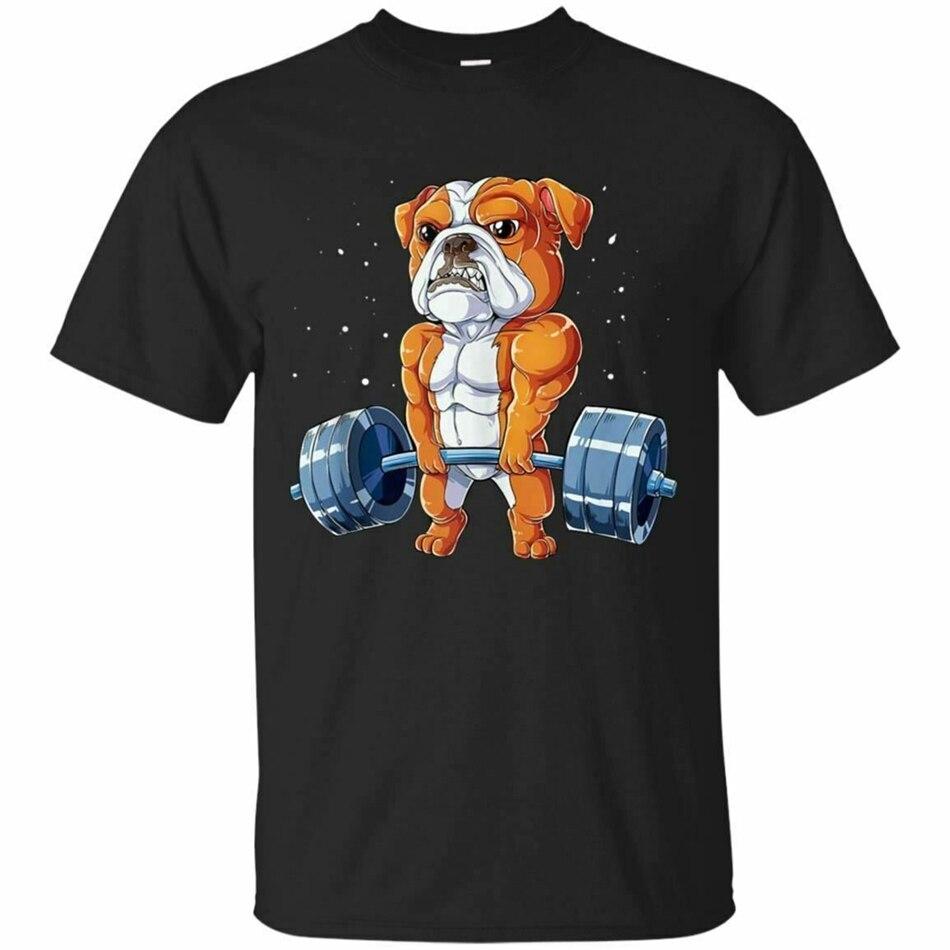 Camiseta de Bulldog Inglés Weightlifting divertido Deadlift hombres Camiseta de manga corta nuevas tendencias camiseta