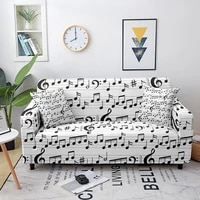 music note elastic couch cover loveseat cover sofa cover for living room sectional sofa slipcover armchair furniture cover