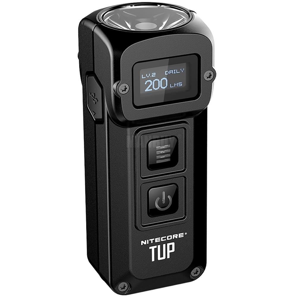 NITECORE TUP 1000 לום נירוסטה מתכתי Keychain אור OLED תצוגת EDC USB נטענת מפתח כפתור אור משלוח חינם