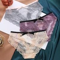 womens sexy lace underwear panties ladies hollow transparent underwear girls low waist cotton panties briefs