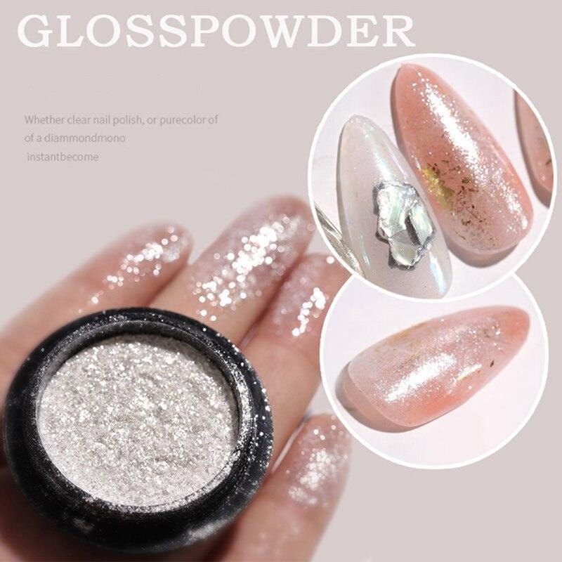 1BOX Nail Mirror Glitter Powder Metallic Color Nail Art UV Gel Polishing Chrome Flakes Pigment Dust