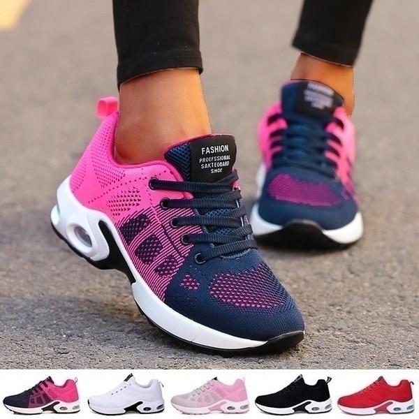 Vrouwen loopschoenen ademende casual schoenen esporte ao ar livre schoenen casual tênis tenis feminino