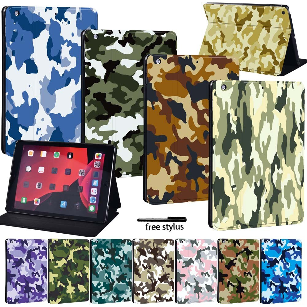 Camouflage Series Tablet Folio Leather Stand Case Cover -For Apple IPad /iPad Mini /iPad Air /iPad Pro 7.9 9.7 10.2 10.5 11 Inch mandala pu leather stand cover case for apple ipad ipad mini ipad air ipad pro tablet lightweight durable protective case