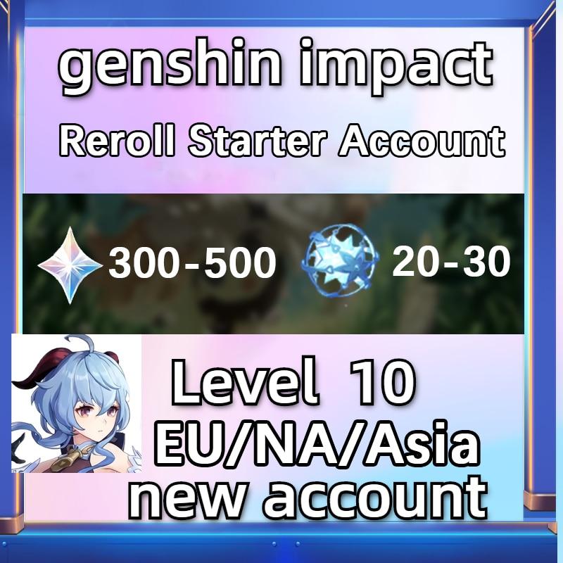 Genshin Impact Reroll Starter Account Diluc Tartaglia Keqing Qiqi Mona Klee Venti Ganyu Asia/Europe/America