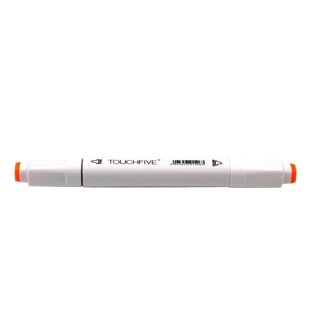 TOUCHFIVE Art Markers 60 Colors/Set Dual Headed Alcohol Marker Color Pen Anime Student Design Sketch Manga (White Body)